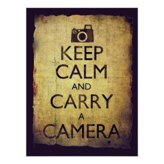 Keep Calm and Carry a Camera Vintage Old Style Poster