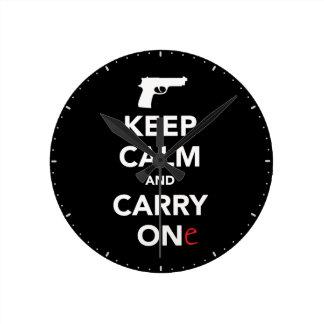 Keep Calm and Carry A Gun Clocks