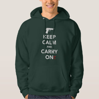 Keep Calm and Carry A Gun Hoodie