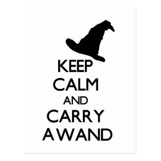 KEEP CALM AND CARRY A WAND POSTCARD