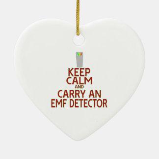 Keep Calm and Carry an EMF Detector (Parody) Ceramic Ornament