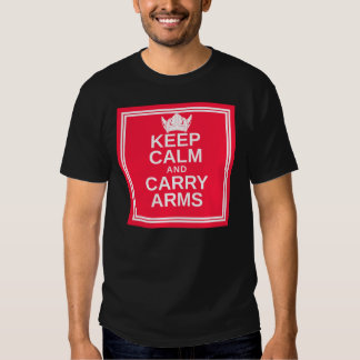 Keep Calm and Carry Arms Danish Viking Gear T Shirts