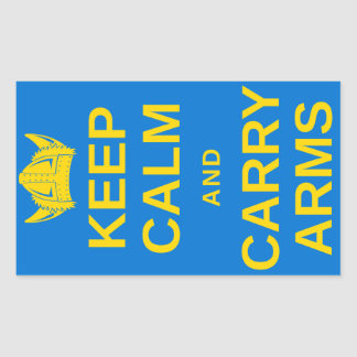 Keep Calm and Carry Arms Swedish Viking Gear Sticker