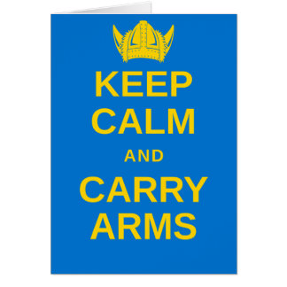 Keep Calm and Carry Arms Swedish Viking Notecard