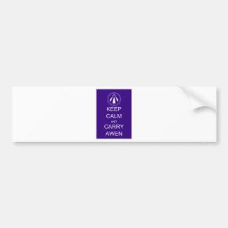 Keep Calm and Carry Awen Bumper Sticker