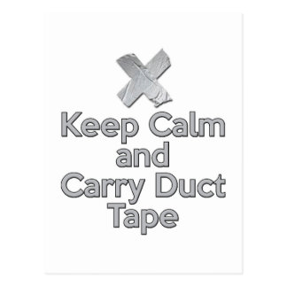 Keep Calm and Carry Duct Tape Postcard