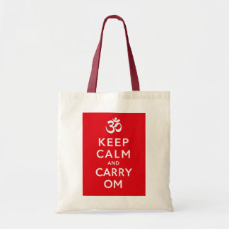 Keep Calm and Carry Om Crafts and Shopping Tote