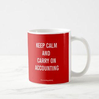 KEEP CALM AND CARRY ON ACCOUNTING... MUGS