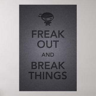 keep calm and carry on angry ninja poster