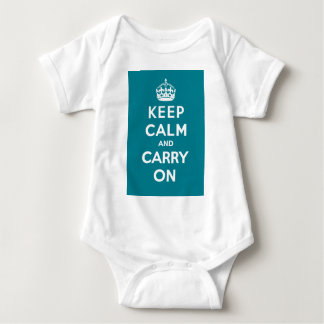 Keep Calm and Carry On_BABY_AQUA Baby Bodysuit