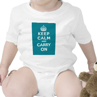 Keep Calm and Carry On_BABY_AQUA Baby Bodysuits
