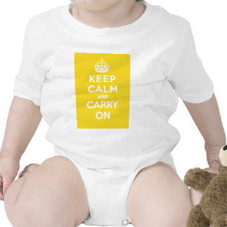 Keep Calm and Carry On_BABY_YELLOW Bodysuits