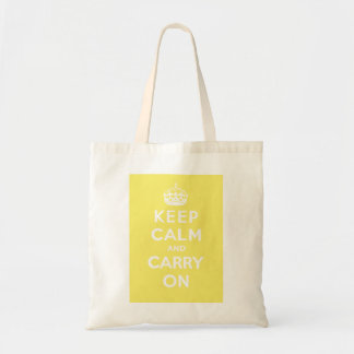 Keep Calm and Carry On_BAG_LEMON MERINGUE Budget Tote Bag