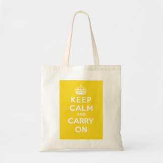 Keep Calm and Carry On_BAG_SUNSHINE Budget Tote Bag