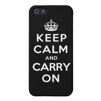Keep Calm and Carry On - Black Case For The iPhone 5