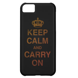 KEEP CALM AND CARRY ON / black iPhone 5C Cover