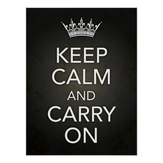 Keep Calm and Carry On Black Print
