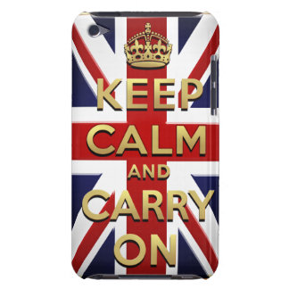 Keep calm and carry on British flag iPod Case-Mate Case