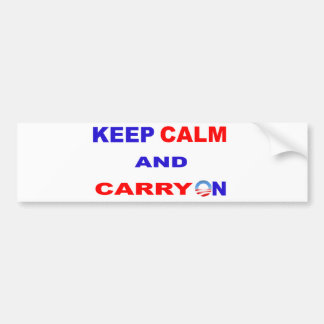 KEEP CALM AND CARRY ON BUMPER STICKER