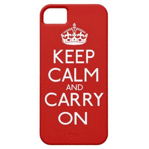 Keep Calm And Carry On iPhone 5 Cases