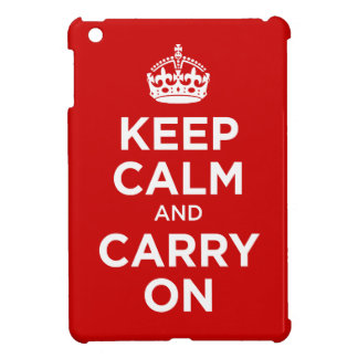 keep calm and carry on case for the iPad mini