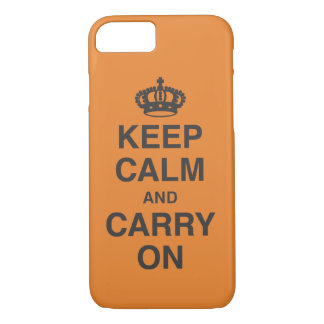KEEP CALM AND CARRY ON Case-Mate iPhone CASE
