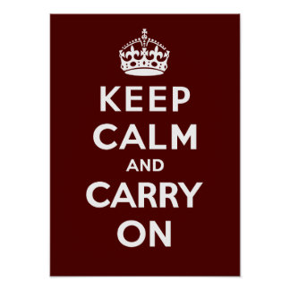 Keep Calm and Carry On_CHOCOLATE Poster