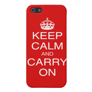 Keep Calm and Carry On classic British prints iPhone 5/5S Cases