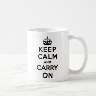 Keep Calm And Carry On Classic White Coffee Mug