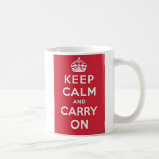 Keep Calm And Carry On Classic White Coffee Mug