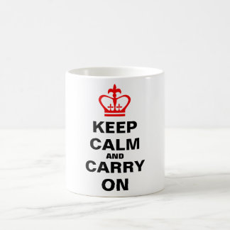 Keep calm and carry on coffee mug