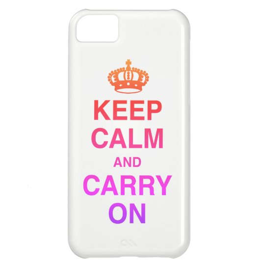 KEEP CALM AND CARRY ON / Colourful iPhone 5C Case
