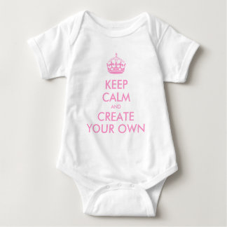 Keep Calm and Carry On Create Your Own | Pink Baby Bodysuit