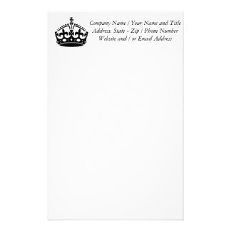 Keep Calm and Carry On Crown Personalized Stationery