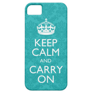 Keep Calm And Carry On Damask iPhone 5 Case Covers
