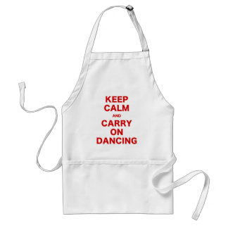 Keep Calm and Carry On Dancing Aprons
