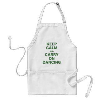 Keep Calm and Carry On Dancing Standard Apron