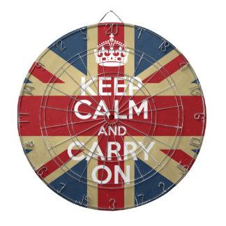 Keep Calm And Carry On Dartboard