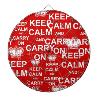 Keep Calm and Carry On Dartboard