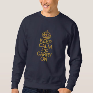 KEEP CALM AND CARRY ON embroidered APPAREL Embroidered Sweatshirt