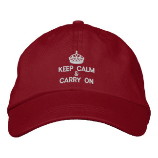 Keep calm and carry on embroidered hat