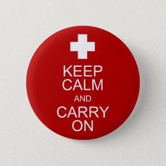 Keep Calm and Carry On - First Aid 2 Inch Round Button