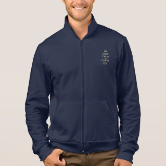 Keep calm and carry on fleece jacket | Customized
