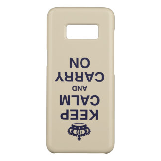 KEEP CALM AND CARRY ON flipped gray Case-Mate Samsung Galaxy S8 Case