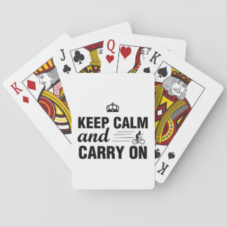 Keep Calm And Carry On For Bicyclists Playing Cards