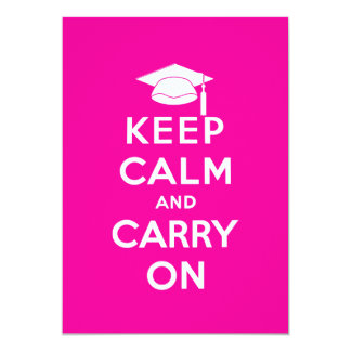 Keep Calm and Carry On Graduation Personalized Invites