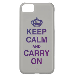 KEEP CALM AND CARRY ON Gray Case-Mate iPhone Case