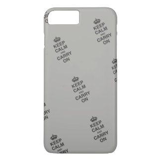 KEEP CALM AND CARRY ON / Gray iPhone 8 Plus/7 Plus Case