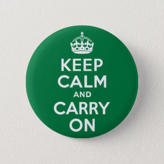 Keep Calm and Carry On Green 2 Inch Round Button