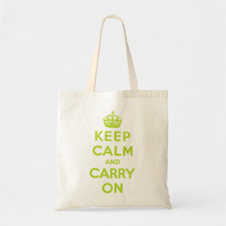Keep Calm and Carry On green Bag